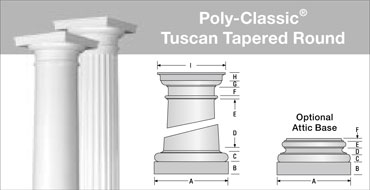 Poly Classic Columns Spec Sheets Turncraft Net