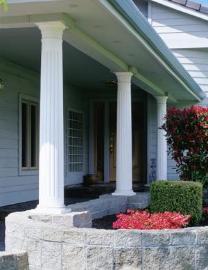 Wood porch posts for Colonial porch columns
